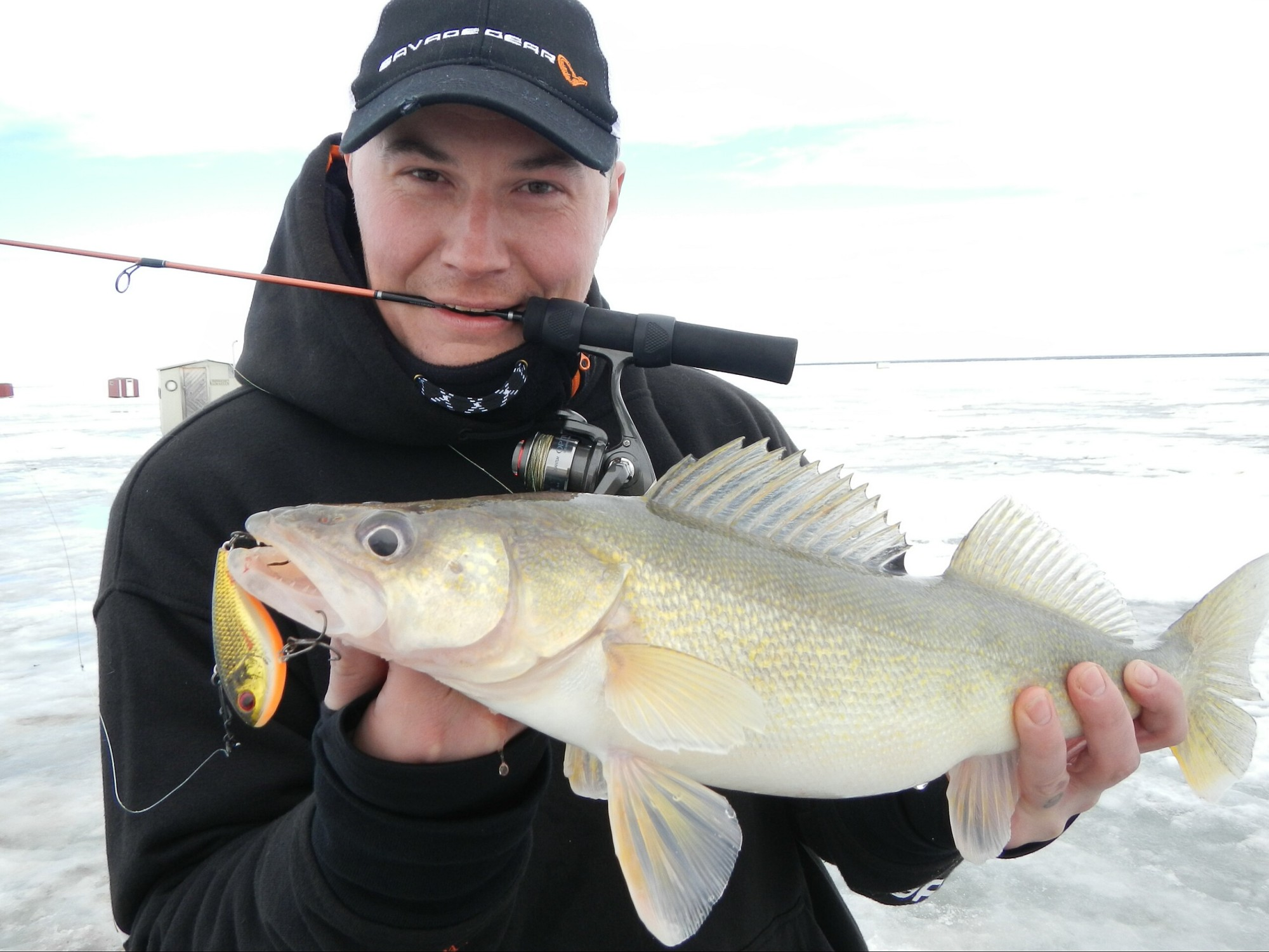 Fat vibe candy for walleye steve bell angler for Ice fishing for walleye